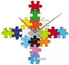 Zegar ścienny Karlsson Do It Yourself Puzzle Multi Colour KA5058