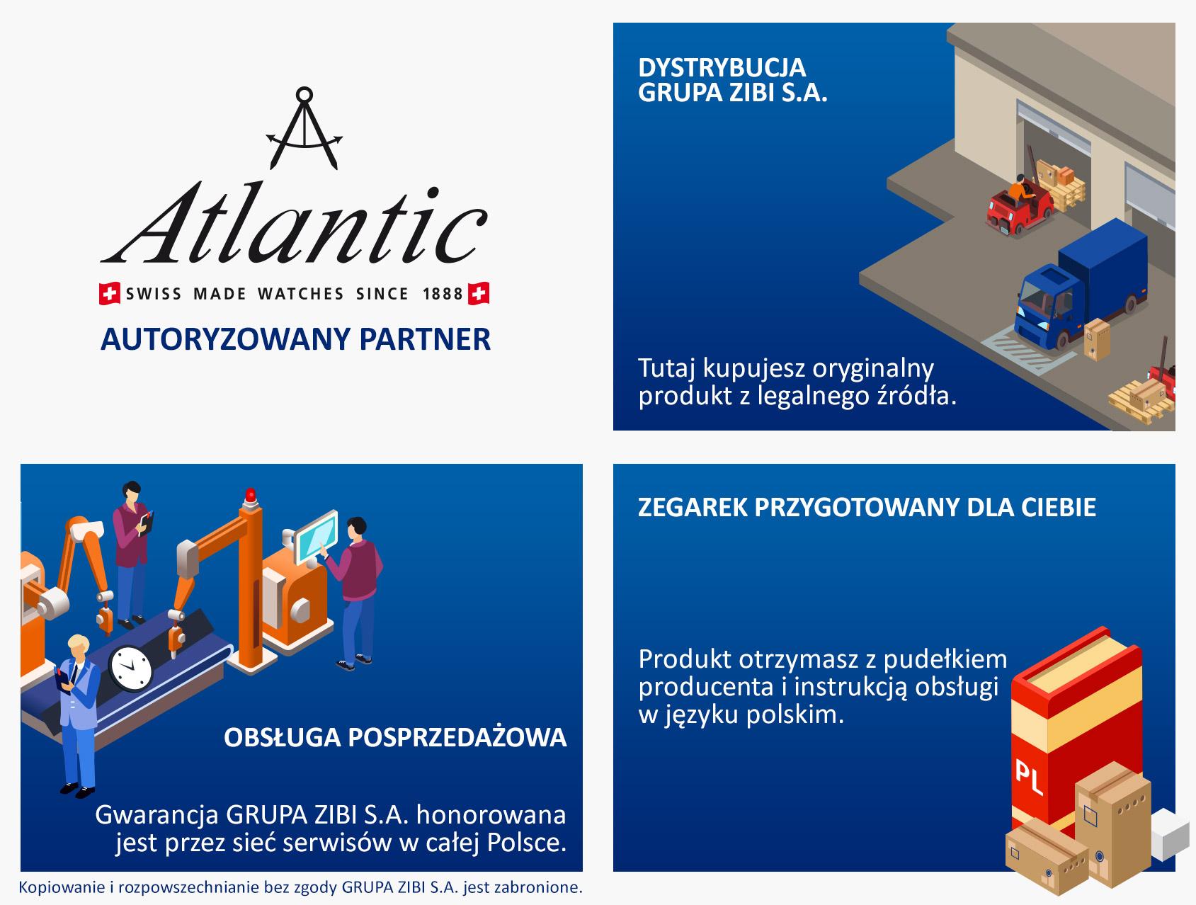 certyfikat sklep Demus jako autoryzowanego sprzedawcy ATLANTIC