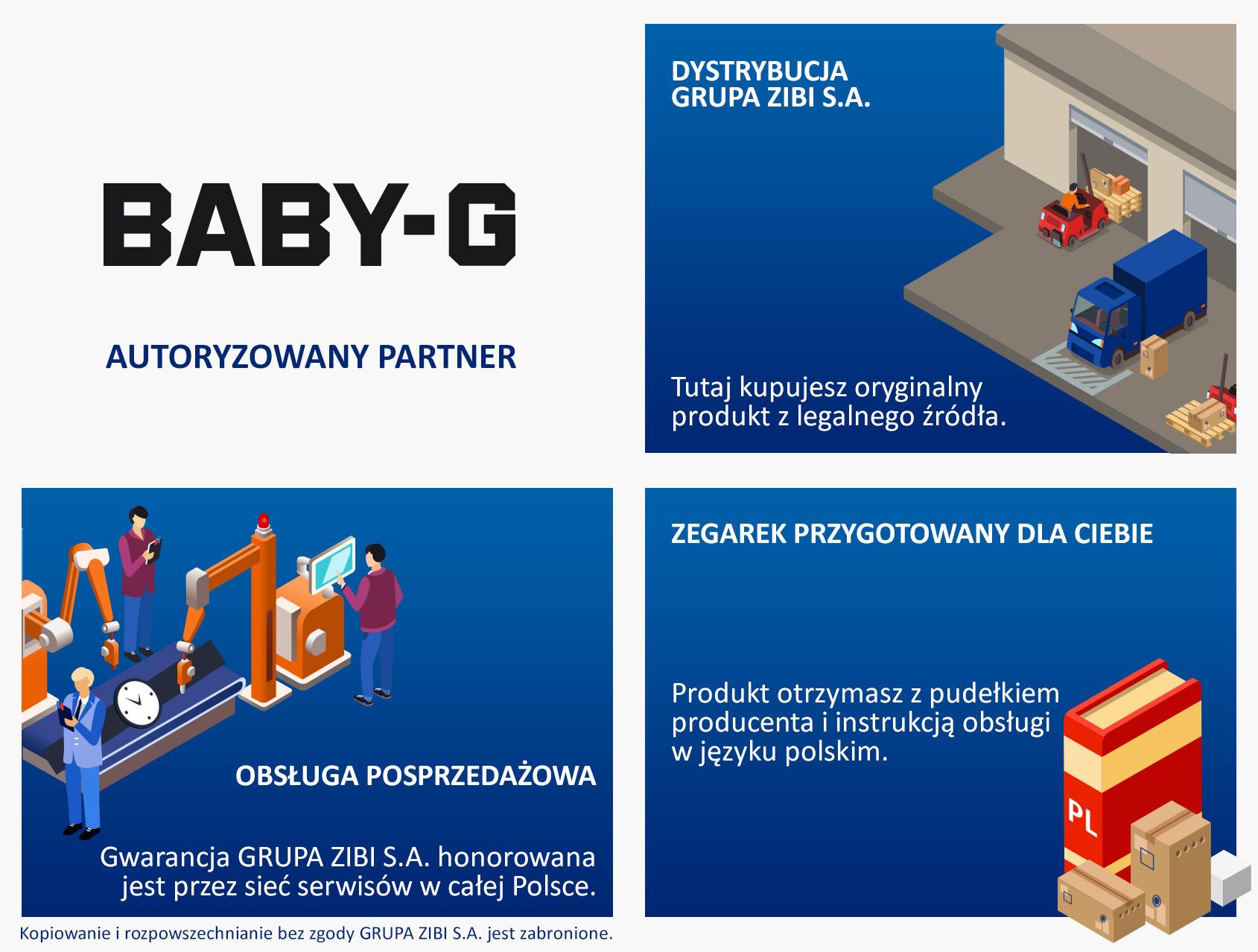 certyfikat sklep Demus jako autoryzowanego sprzedawcy BABY-G
