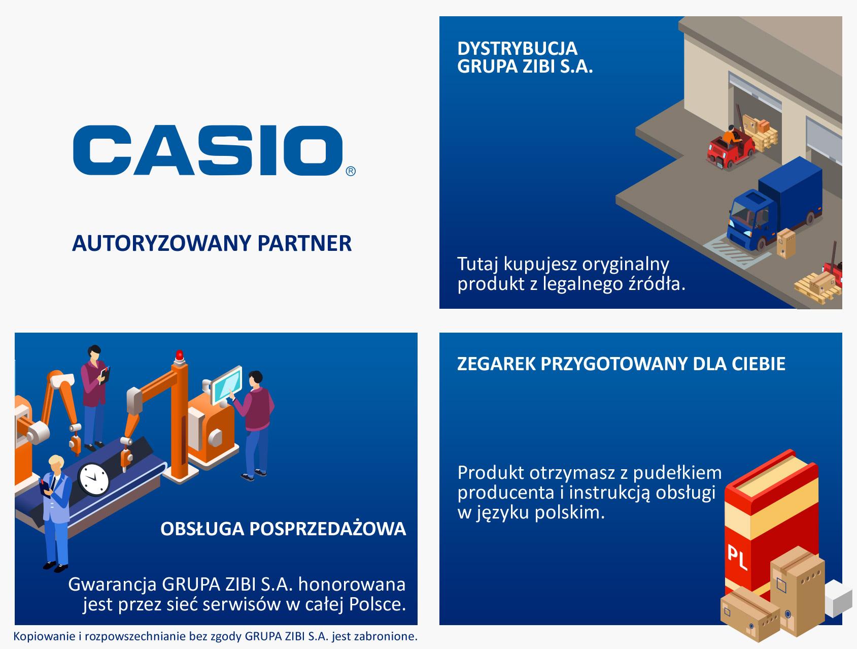 certyfikat sklep Demus jako autoryzowanego sprzedawcy CASIO
