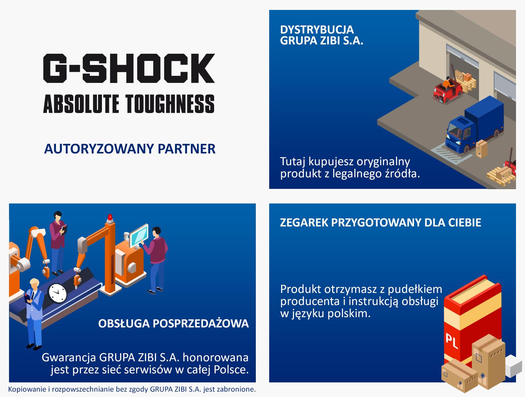 certyfikat sklep Demus jako autoryzowanego sprzedawcy G-SHOCK