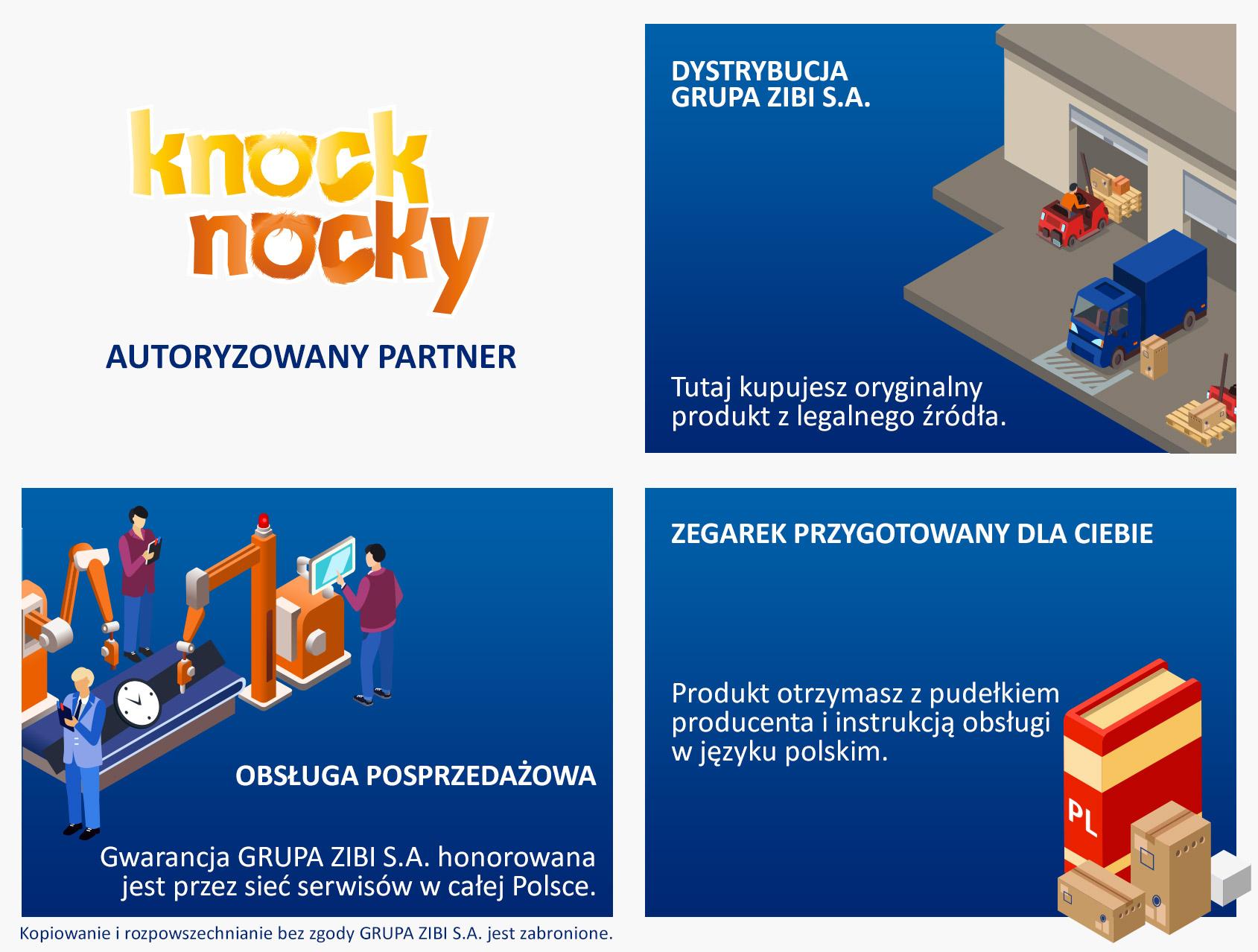 certyfikat sklep Demus jako autoryzowanego sprzedawcy KNOCK KNOCKY