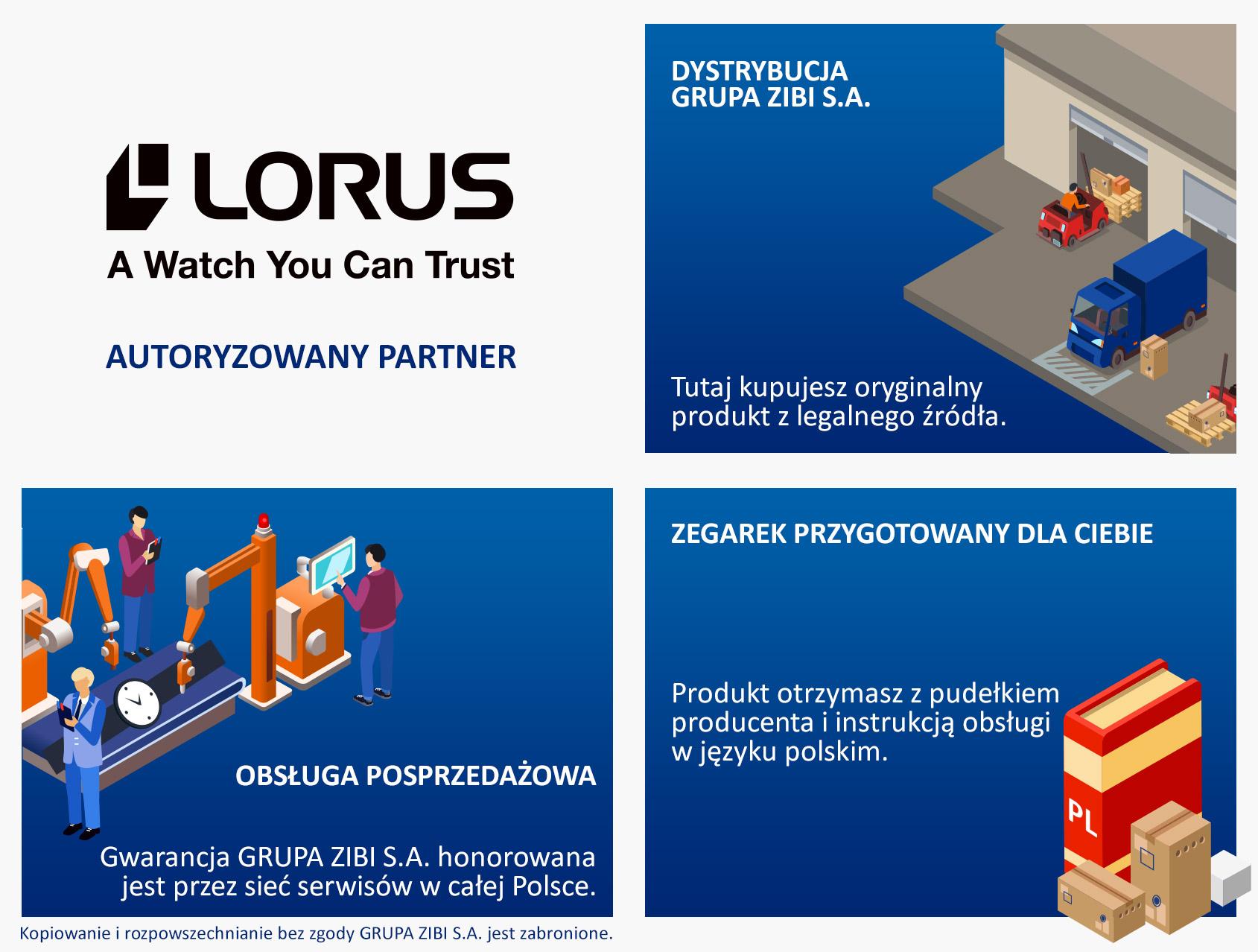 certyfikat sklep Demus jako autoryzowanego sprzedawcy LORUS