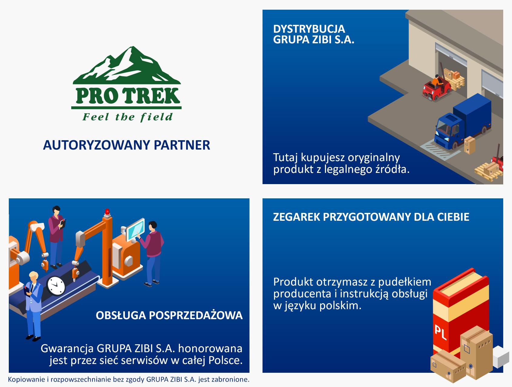 certyfikat sklep Demus jako autoryzowanego sprzedawcy PROTREK