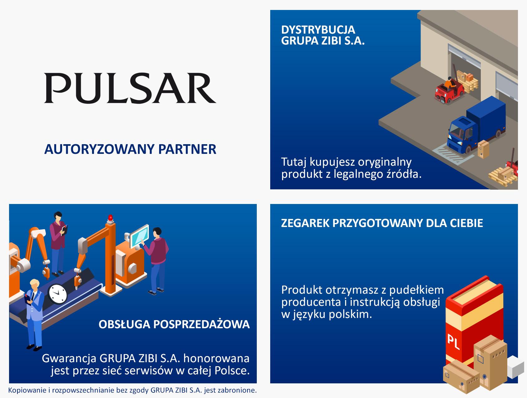 certyfikat sklep Demus jako autoryzowanego sprzedawcy PULSAR