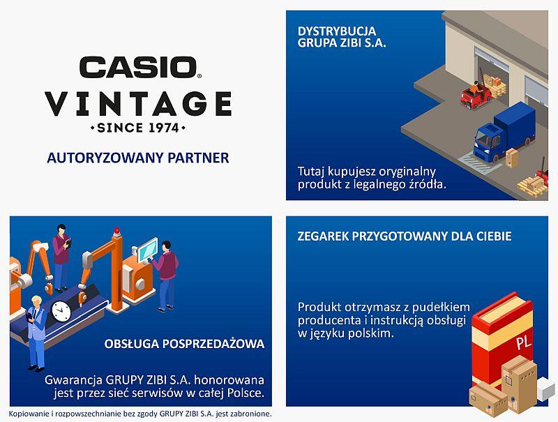 certyfikat sklep Demus jako autoryzowanego sprzedawcy CASIO VINTAGE