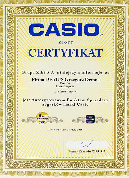 Certyfikat sprzedawcy G-SHOCK