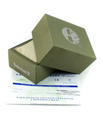 Zdjęcie pudełka i gwarancji TIMBERLAND