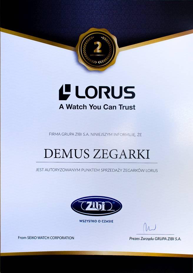 Certyfikat sprzedawcy LORUS