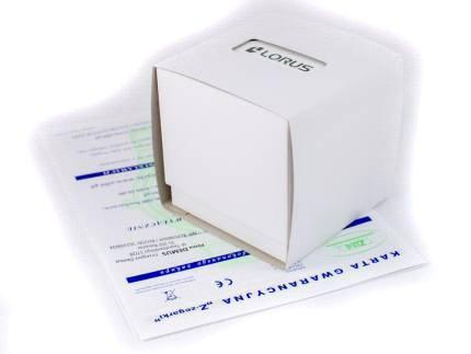 Zdjęcie pudełka i gwarancji LORUS
