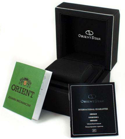 Zdjęcie pudełka i gwarancji ORIENT STAR