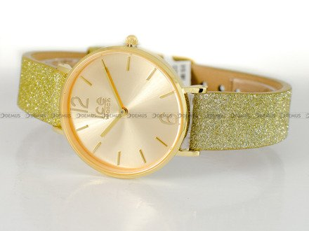 Zegarek Damski Ice-Watch - City Sparkling Glitter Gold S 015087