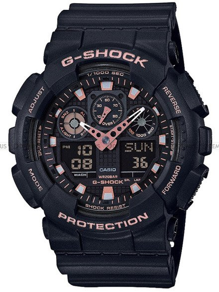 Zegarek Męski G-SHOCK BLACK AND GOLD GA-100GBX-1A4ER